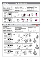 Eledis APEM 1A21-NF1STSE 2A Toggle Switch, , 1A21-NF1STSE Data Sheet