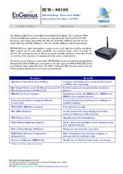 EnGenius ECB-8610S Ultra Long Range Indoor Dual Band Access Point 710101GECB8610S Leaflet