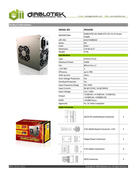 Diablotek International PSDA250 Leaflet