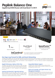 Peplink Balance One Dual-WAN Router Specification Guide