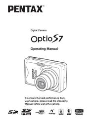 Pentax Optio S7 Digital Camera 18872 User Manual