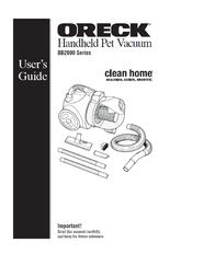 Oreck HANDHELD PET VACUUM BB2000 User Manual