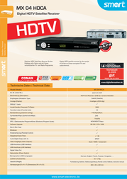 Smart MX04 HDCA 22-01-01-0107 Leaflet