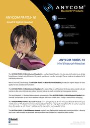 Anycom PAROS-10 Bluetooth (EU: NL, FR, ES) CC3103-42 Leaflet