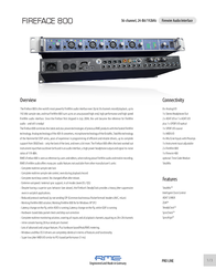 RME Fireface 800 RE-FF800 User Manual