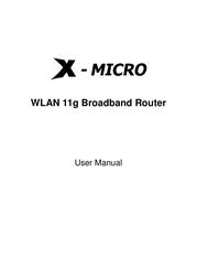 X-Micro WLAN 11g User Manual