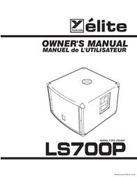 Elite ES700P User Manual