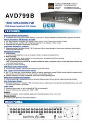 CPcam AVC799B 13449 Leaflet