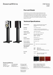 Bowers & Wilkins CM1 CM1/BLACK Leaflet