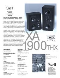 Snell Acoustics XA 1900THX Leaflet