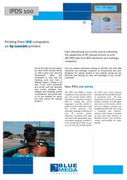 Print4Sure IPDS 100 IPDS-70126 Leaflet