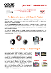 Cokin MAGNET - TYPE R760-M S tele lense, x2 R760MS Leaflet
