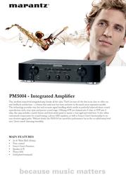 Marantz PM5004/ZIL Leaflet