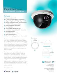 IQinVision Alliance-pro IQA33WX-A3 Leaflet