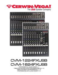 Cerwin-Vega CVM-1224FXUSB Owner's Manual
