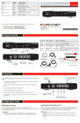 Fortinet FortiGate-30B Quick Setup Guide