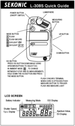 Sekonic L-308 DC 100349 Leaflet