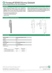 Greenteq 4004976500 Data Sheet