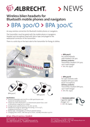 Albrecht BPA 300 15510 Leaflet