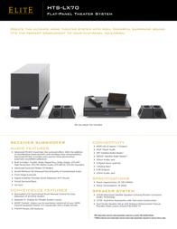 Elite HTS-LX70 Leaflet