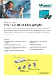 Micronet SP2515A EtherFast 100M Fiber Adapter SP2515A Leaflet