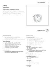 Gigaset Elements Alarm sounder S30851-H2515-R101 Data Sheet
