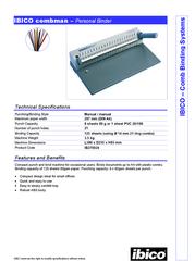 Ibico combman IB270024 Leaflet