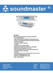Soundmaster UR-2010 UR-2010S Leaflet