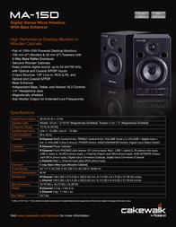 Edirol MA-15D MA-15DBK Leaflet