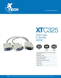 Xtech XTC-325 Leaflet