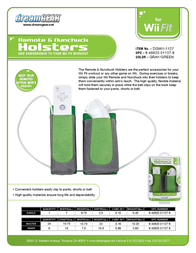 dreamGEAR Remote & Nunchuck Holsters for Wii Fit DGWII-1127 Leaflet