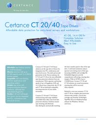 Certance Travan 20 ATAPI STT220000A-M Leaflet