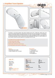 Aigo E063 Compact Amplified Travel Speaker E063 Leaflet