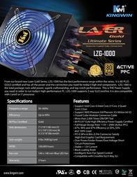 Kingwin Lazer Gold LZG-1000 Leaflet