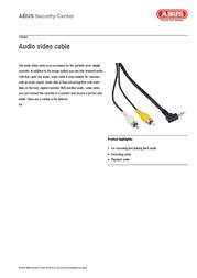 ABUS TV8460 Leaflet