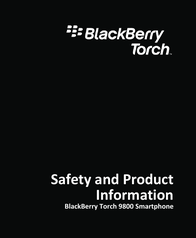 BlackBerry 9800 User Manual