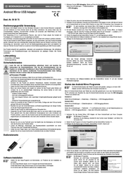 j5 create Android Mirror JUC600 Data Sheet