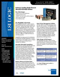 LSI MegaRAID SCSI 320-1 MRSCSI320-1-KIT Leaflet