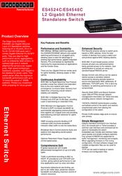 Edge-Core ES4524C L2/L4 Gigabit Ethernet Standalone Switch ES4524C Leaflet