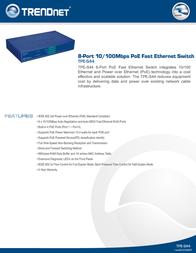 Trendnet TPE-S44 Leaflet