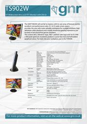 GNR TS902W Leaflet