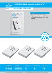 Qware QW WII-64MB Leaflet