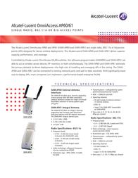 Alcatel-Lucent OAW-AP60 Leaflet