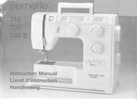 Bernina Bernette 715 / 730 / 740E Owner's Manual