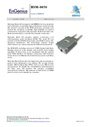 EnGenius EOM-8670 Outdoor Mesh (Layer 2 & 3) Access Point 710201GEOM8670 User Manual