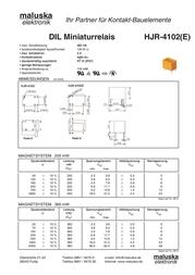Tianbo Electronics HJR-4102-L-24VDC-S-Z PCB Mount Relay HJR-4102-L-24VDC-S-Z Data Sheet