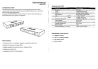 Monoprice 4X1 Enhanced 104088 Leaflet