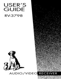 Electrohome RV-3798 User Manual