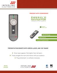 Interlink Emerald Navigator VP4450 Leaflet