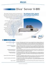 Eicon Diva Server V-BRI-2 306-219 Leaflet